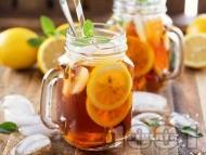 Рецепта Студен ментов черен чай с джинджифил, канела, мед, лимон и карамфил